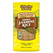 (2 Pack) Golden Star Brown Jasmine Rice, 2 lbs