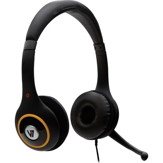 V7 USB Digital Headset with Noise Cancelling Microphone