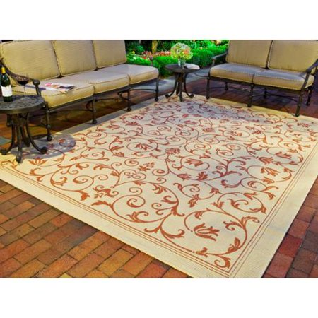 Safavieh Resorts Scrollwork Natural Terracotta Indoor Outdoor Rug