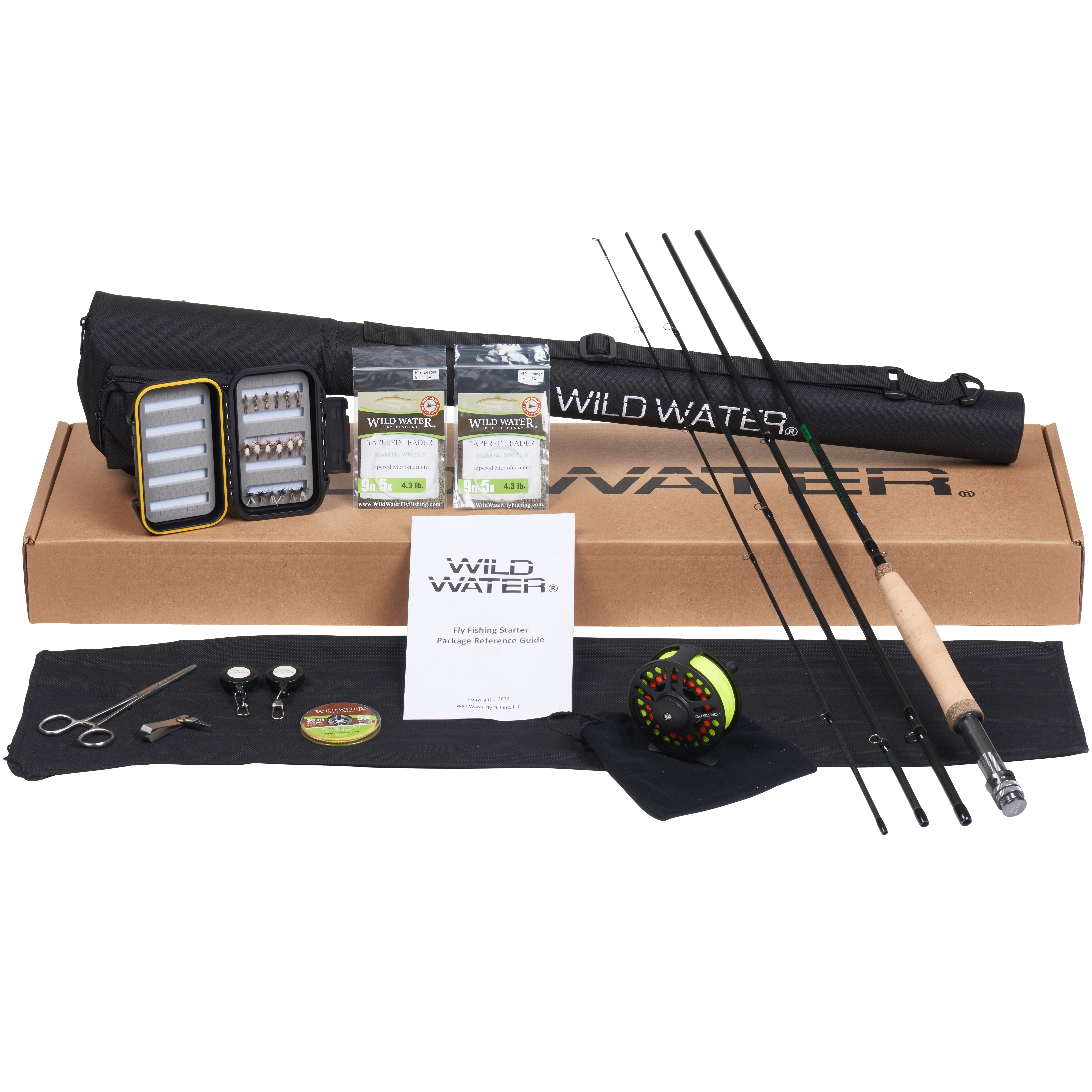 Wild Water Fly Fishing -CNC Machined Aluminum Fly Reel- 5 6 Complete Starter Pkg by Wild Water Fly Fishing, LLC