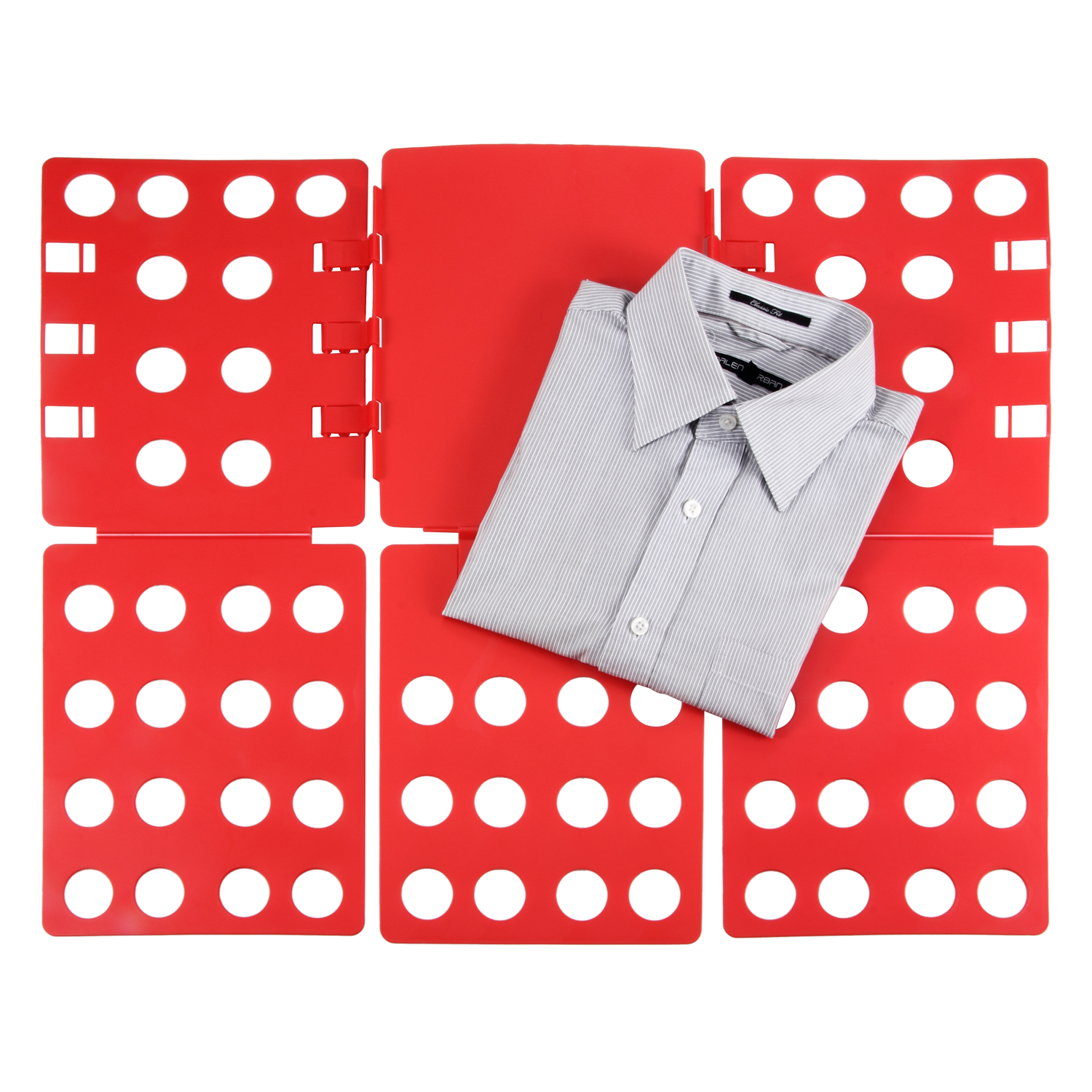 Allieroo Convenient Clothes Folder Organize Plastic T Shirt Fold Board Thickness Adjustable Laundry Folding Board, Red