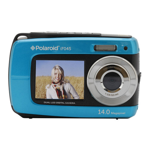 Polaroid IF045-BLUE Dual Screen Water Proof Camera
