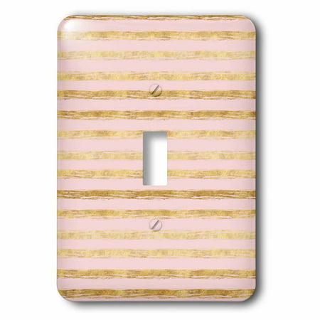3dRose Gold Peach Stripes - Single Toggle - Peach Gold