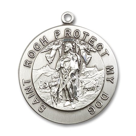 St  Roch Medal Pendant In Sterling Silver By Bliss Mfg  St  Roch Is Known As The Patron Saint Of Bachelors  Dogs
