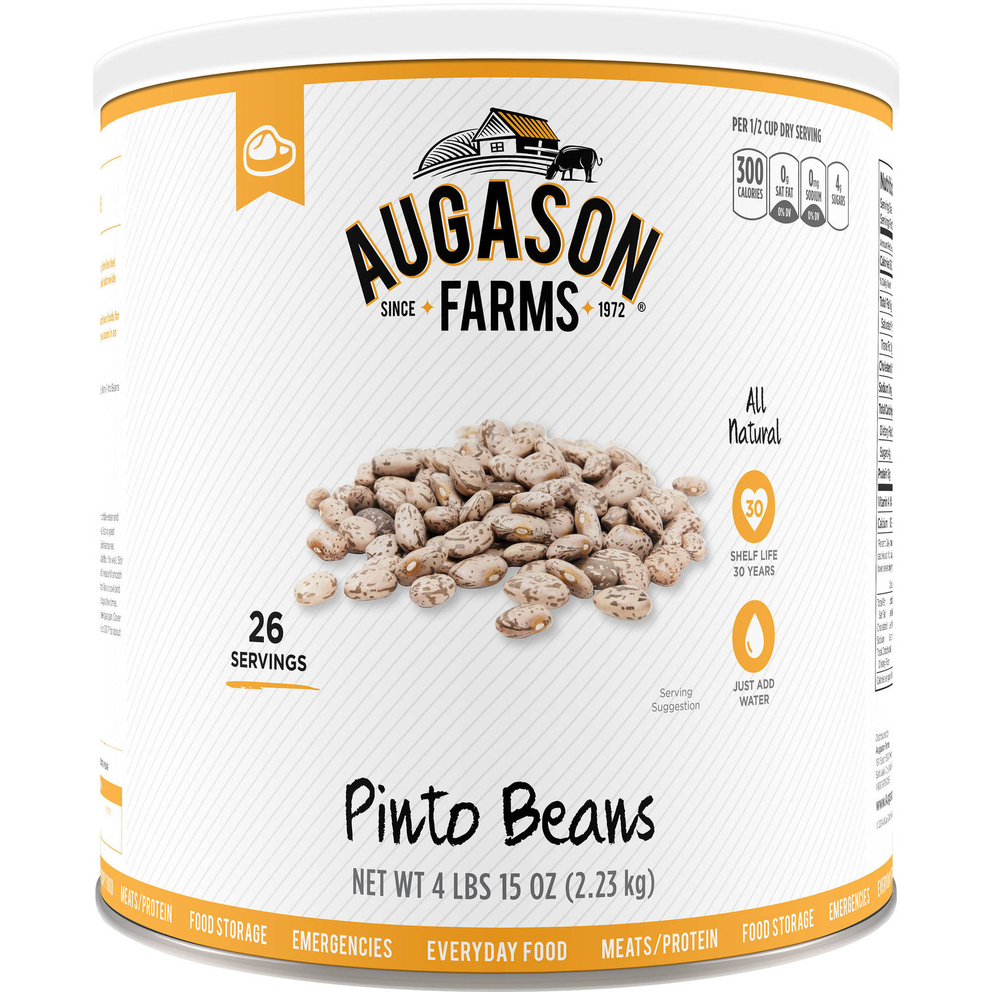 Augason Farms Pinto Beans, 5 lbs by Generic