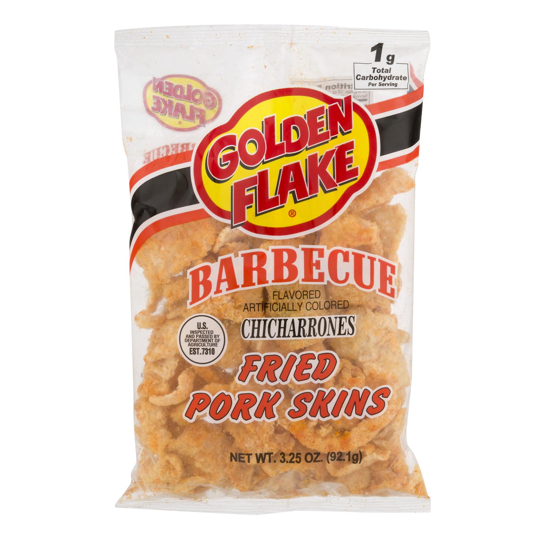 Golden Flake Fried Barbecue Pork Skins, 3.25 Oz.