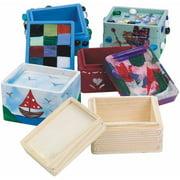 Wood Trinket Box, Pack of 12