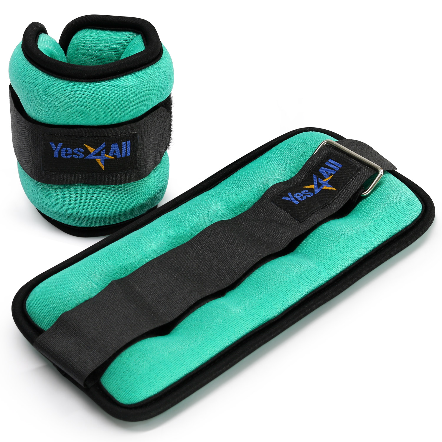 Yes4All Ankle Weights / Wrist Weights (Set of 2) with Adjustable Strap - Perfect for Walking, Fitness, Cardio Exercise