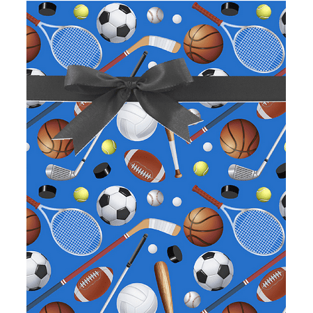 Sports Talk Birthday / Special Occasion Gift Wrap Wrapping Paper-16ft
