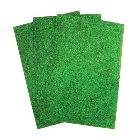 Glitter Foam Sheets (Self-Adhesive Glitter EVA Foam Sheet, 8-Inch x 12-Inch, 3-Piece, Emerald)