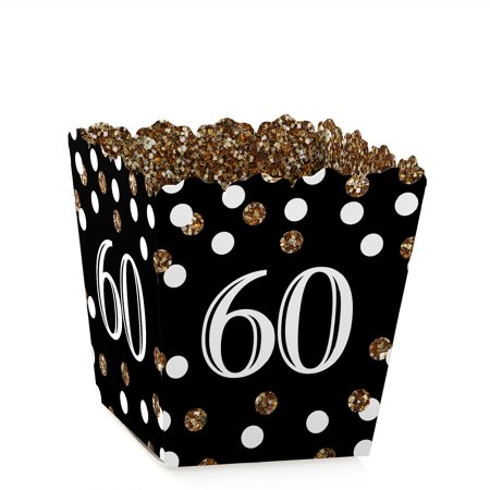 Adult 60th Birthday - Gold - Party Mini Favor Boxes - Birthday Party Treat Candy Boxes - Set of 12](60th Birthday Party Supplies)