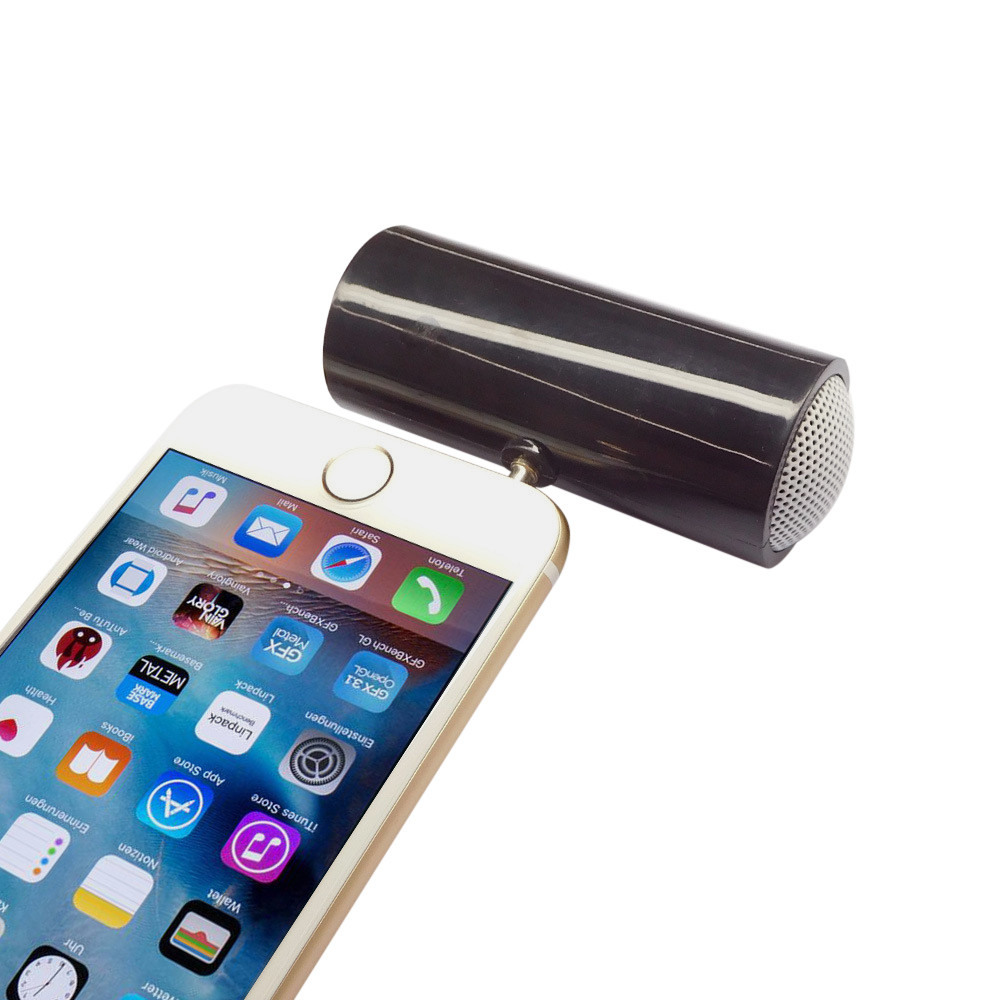 iLH Mallroom 3.5mm Music Player Stereo Speaker For iPod iPhone6 Plus Note4 Cellphone BK