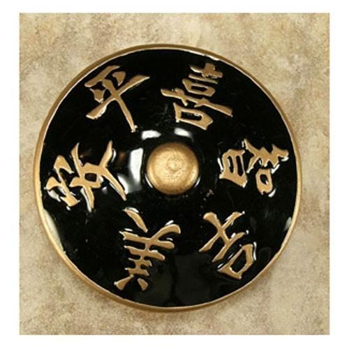 """3"""" Harmony black/gold epoxy knob (Antique Bronze)"""