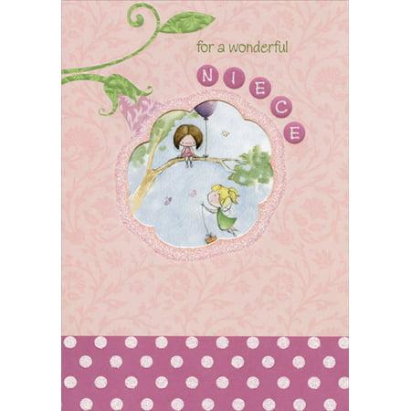 Designer Greetings Fairies on Tree Branch Die Cut Window: Niece Birthday Card](Birthday Money Tree)