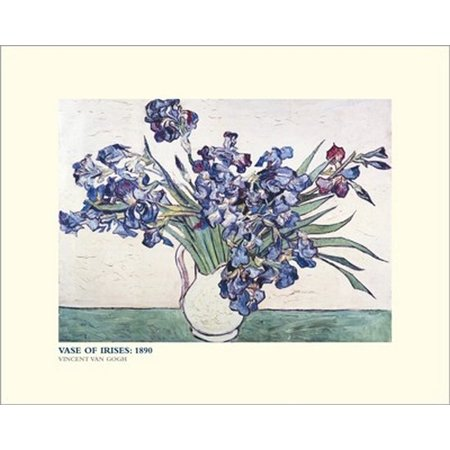 Irises In Vase Poster Print By Vincent Van Gogh 20 X 16 Walmart