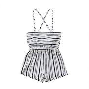 Bmnmsl Girl Sleeveless Striped Short Leotard