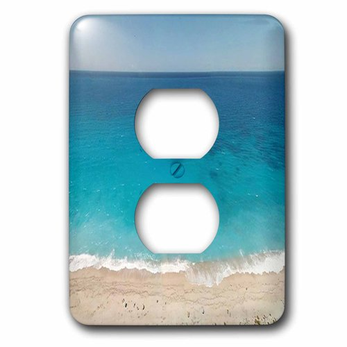 3dRose Print of Beautiful Beach And Ocean With Word Enjoy, 2 Plug Outlet Cover