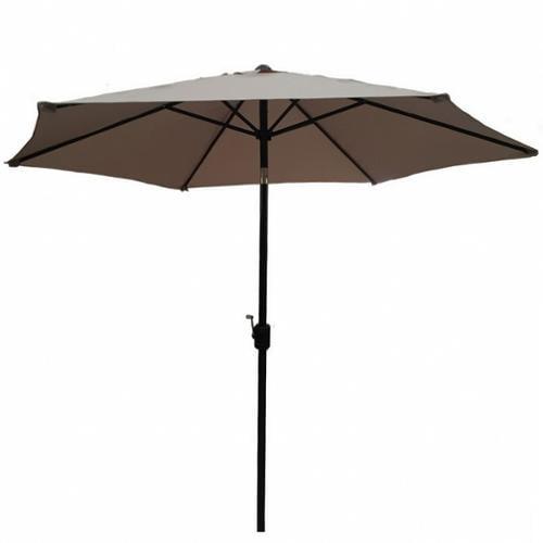Palm Springs 10ft Aluminium Outdoor Patio Umbrella Garden Parasol w  Tilt Tan by