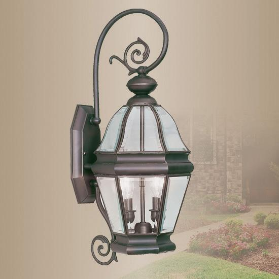 LiveX Lighting LVX-2631-07 Bronze Bradford 2-Light Outdoor Wall Lantern