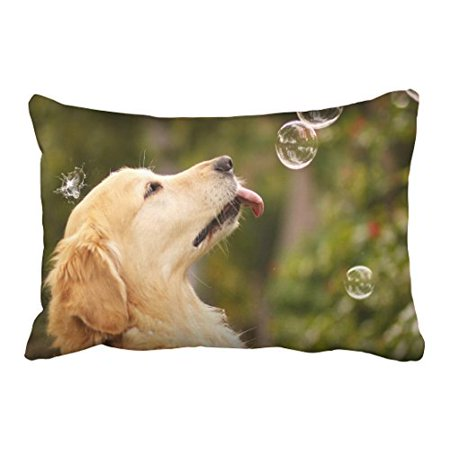 WinHome Decorative Custom Cute Golden Retrievers Dogs Pillowcase Pillow Covers Size 20x30 inches Two Side