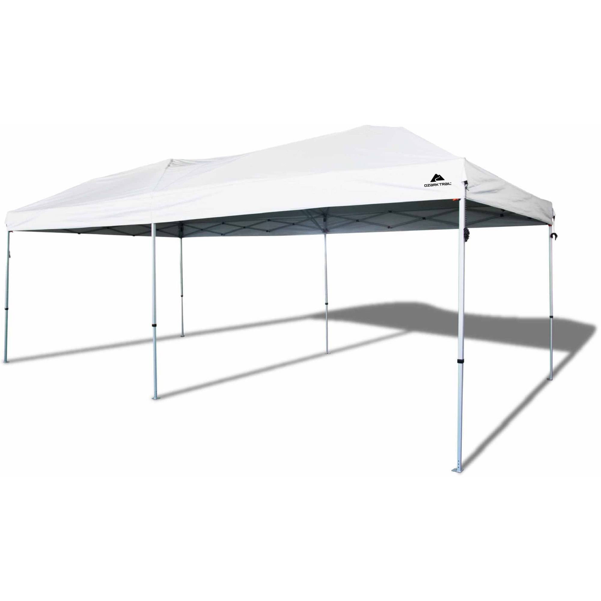 Ozark Trail 20x10 Straight Leg Instant Canopy 200 Sq Ft