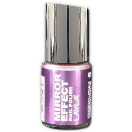 Layla Mirror Effect Nail Polish, #5 Purple Diva