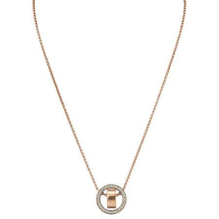 Swarovski Rose Necklace (Swarovski Rose Gold-tone Plated Hollow Pendant)