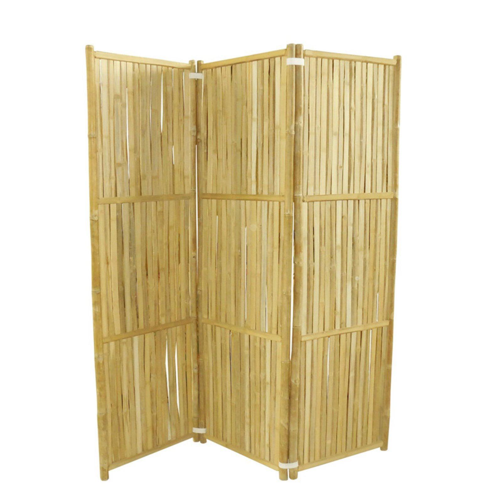 Image of: Phat Tommy 3 Panel Indoor Outdoor Bamboo Room Divider Walmart Com Walmart Com