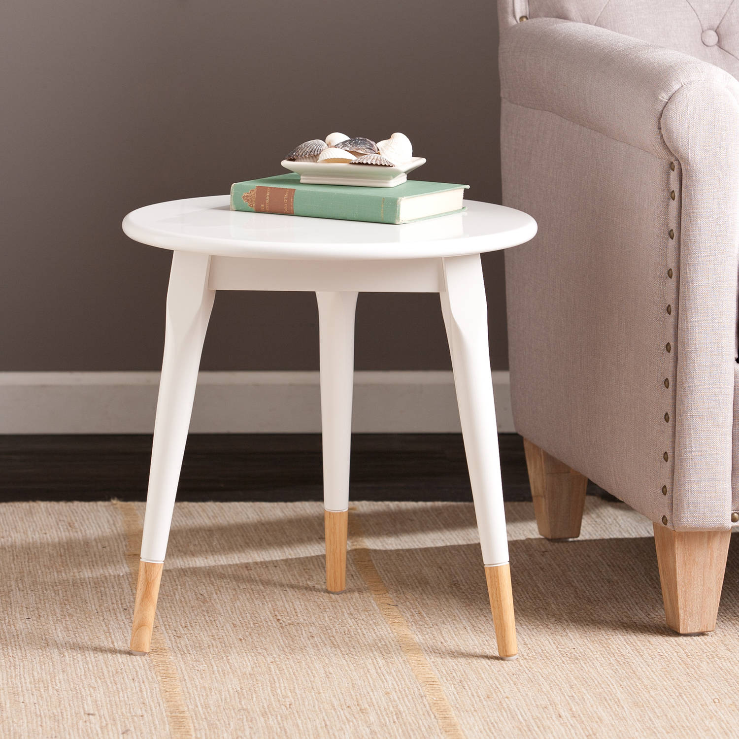Southern Enterprises Trisha Round Side Table, White