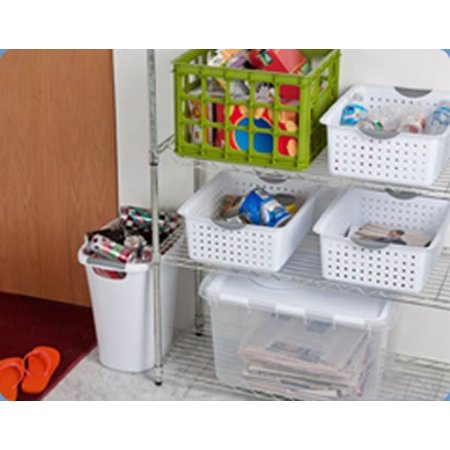 Sterilite Large Ultra Storage Organizer Basket (6 Pack) + Stacking Bins (6 Pack) - image 1 de 11
