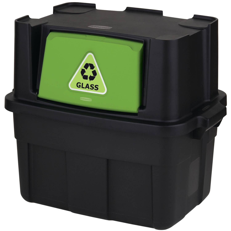 Rubbermaid 14-Gallon Flip-Door Stackable Recycle Bin
