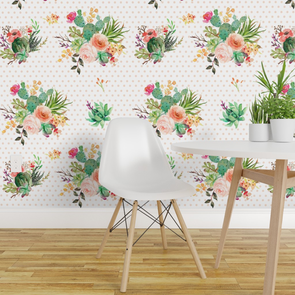 Peel And Stick Removable Wallpaper Boho Floral Flowers Aztec