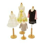 4 Units Child Mannequin Dress Form Display #JF-C06M 1T 2T 3/4T Group