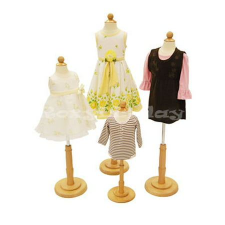 4 Units Child Mannequin Dress Form Display #JF-C06M 1T 2T 3/4T Group