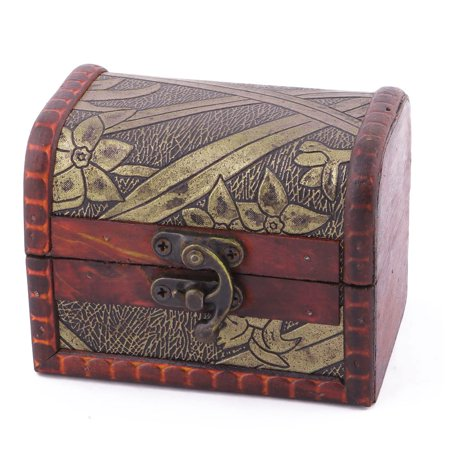 Family Wood Retro Style Treasure Chest Jewelry Candy Gift Locked Box Organizer (Treasure Chest Gift Box)