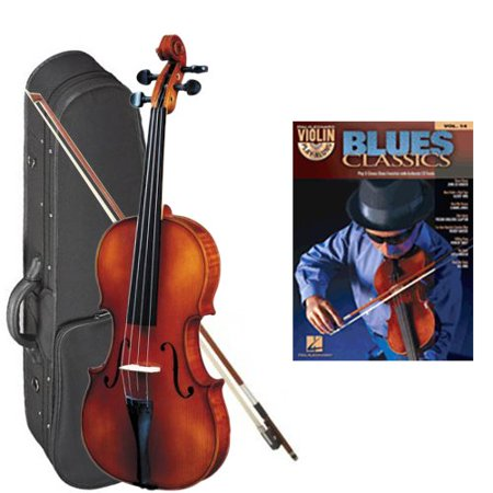 Strunal 260 Student Violin Blues Classics Play Along Pack - 1/4 Size European Violin w/Case & Play Along Book ()