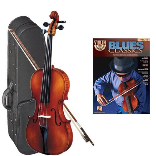 Strunal 260 Student Violin Blues Classics Play Along Pack - 1/4 Size European Violin w/Case & Play Along Book