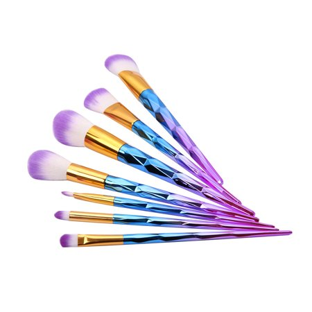 7Pcs Basic Powdered Cosmetic Cosmetic Brushes Kit](Basic Make Up)