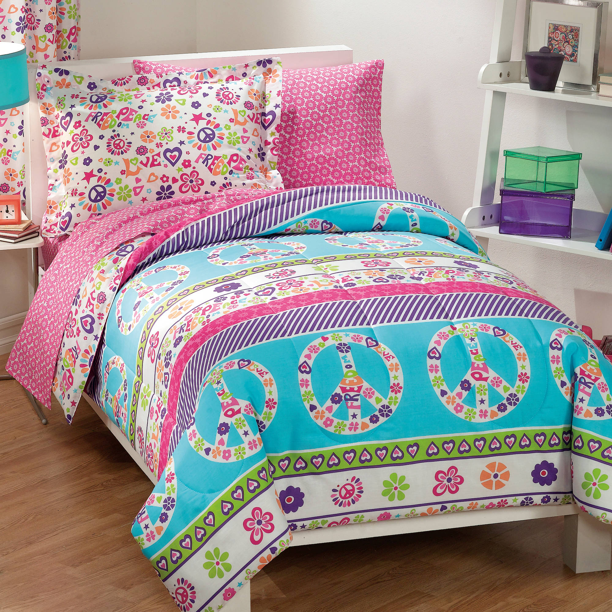 bed sets walmart peace and reversible bed in a bag walmart 10262