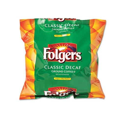 Folgers Coffee Filter Packs, Decaffeinated, .9 Oz, 80/box SMU06136