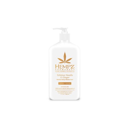 Hempz Tahitian Vanilla & Ginger Herbal Body Moisturizer - 17 oz.