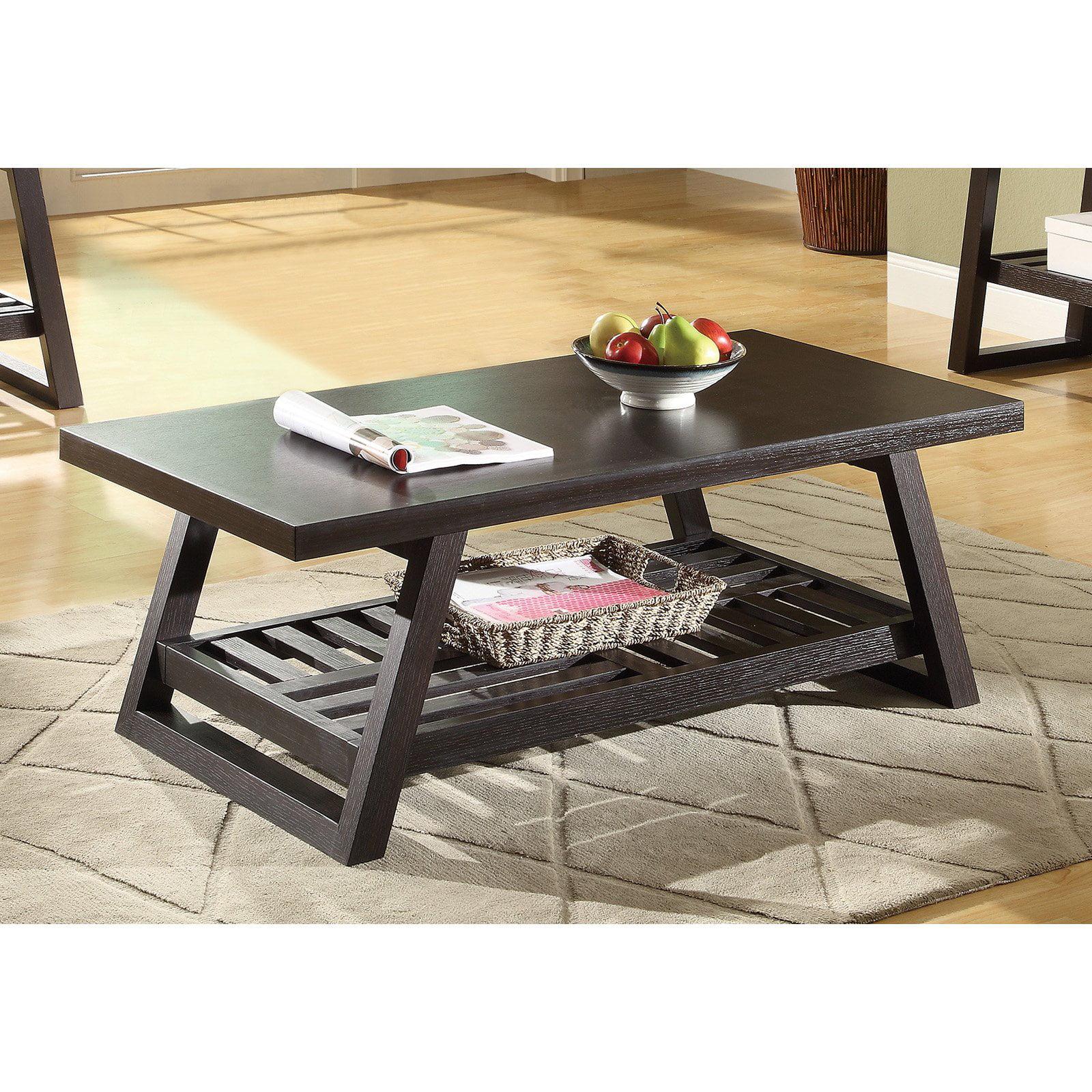 Coaster Furniture Wood Coffee Table with Shelf