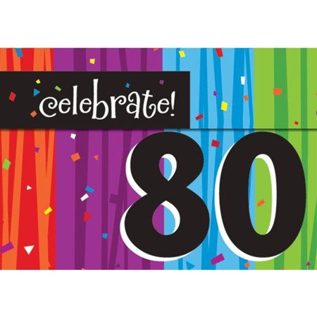 Milestone Celebrations 80th Birthday Party Invitations 8 Ct