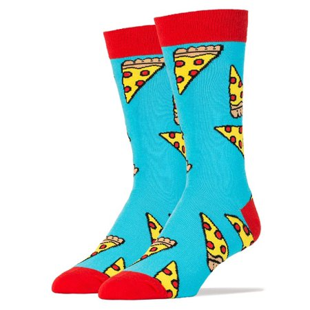 Jyinstyle Oooh Yeah Men'S Luxury Combed Cotton Crew Socks - Superman Pizza Party (Party Socks)