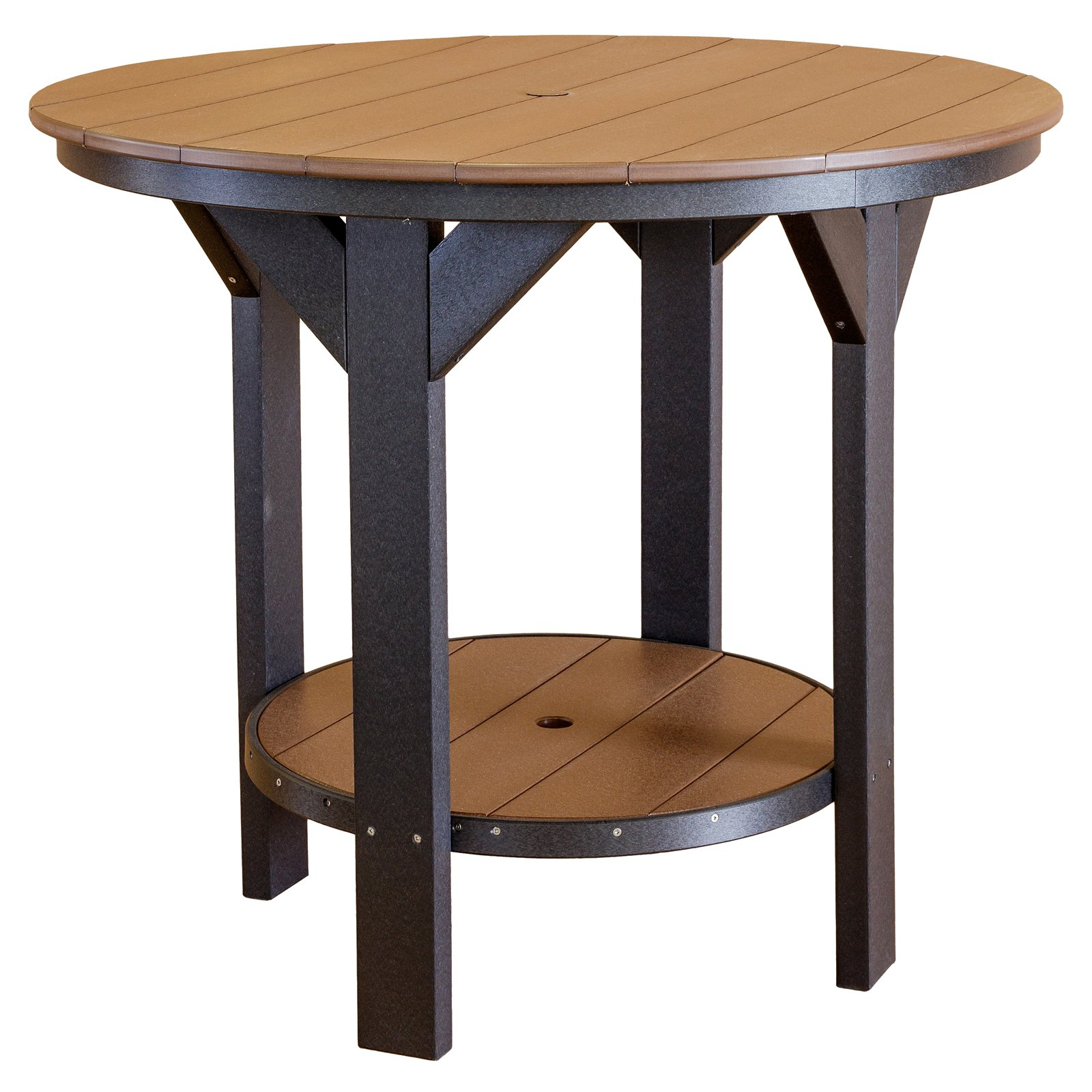 Wildridge Heritage Recycled Plastic 42 in. Round Patio Pub Table by Little Cottage Co