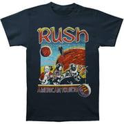 Rush Men's  American Tour 1978 T-shirt Blue