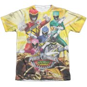 Power Rangers - Charged For Battle - Short Sleeve Shirt - Small