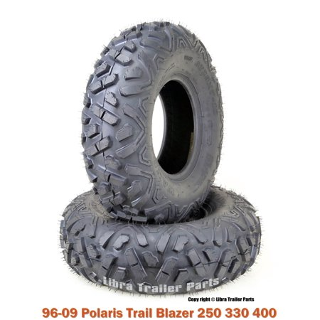 2 WANDA ATV Front Tire Set 23x7-10 for 96-09 Polaris Trail Blazer 250 330 400