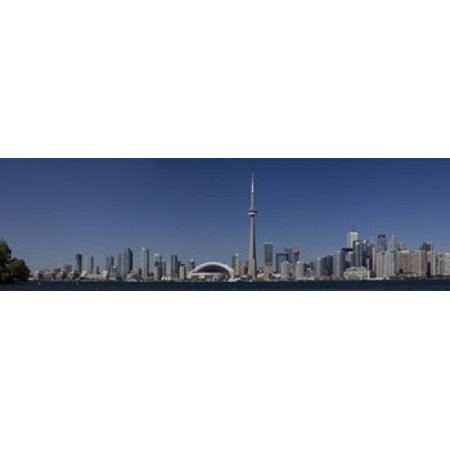 Skylines in a city CN Tower Toronto Ontario Canada Poster Print (8 x 10)