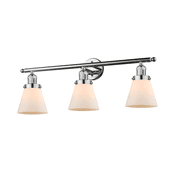 "Innovations Lighting 205 Small Cone 3-Light 30"" Wide Bathroom Vanity Light"